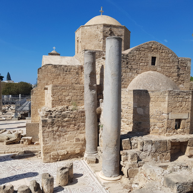 """""""Agia Kyriaki Chrysopolitissa, Paphos, Cyprus"""" stock image"""