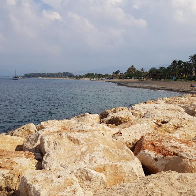 """""""Latsi, Cyprus"""" stock image"""