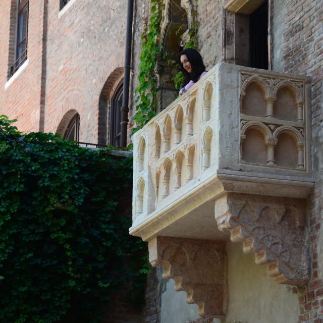 """""""Juliet Balcony, Verona, Italy"""" stock image"""