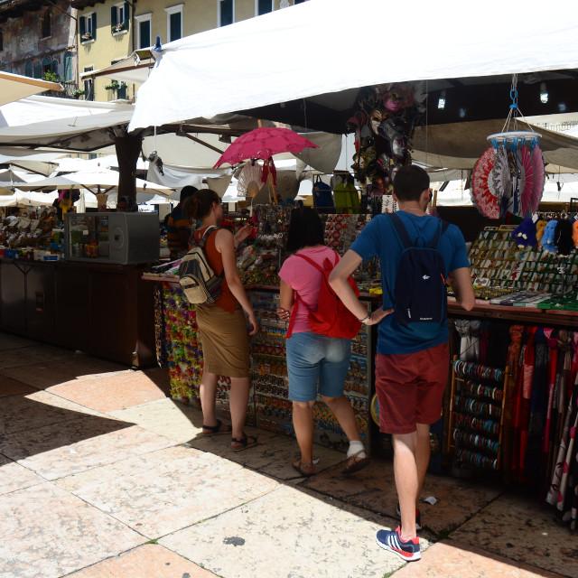 """""""Market, Verona, Italy"""" stock image"""