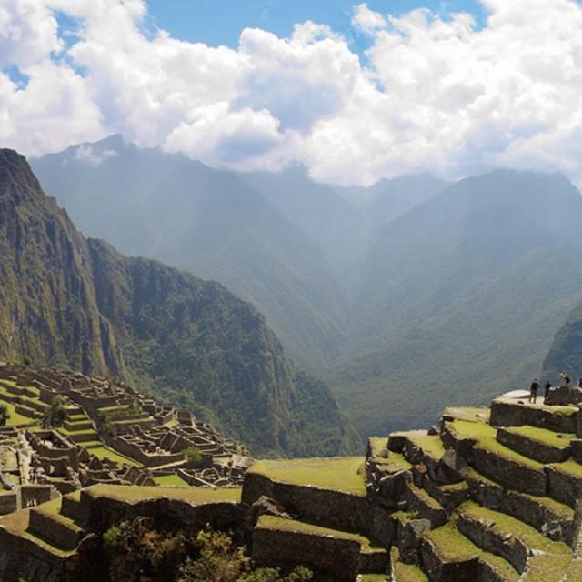 """""""High in the Andes - Machu Picchu Peru"""" stock image"""