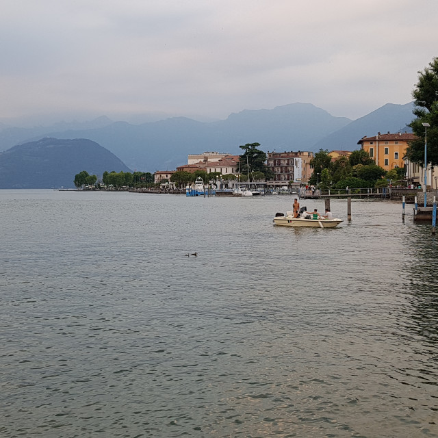 """""""Iseo, Lombardy, Italy"""" stock image"""
