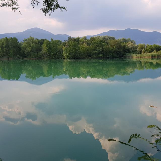 """""""Landscape near Iseo, Italy"""" stock image"""
