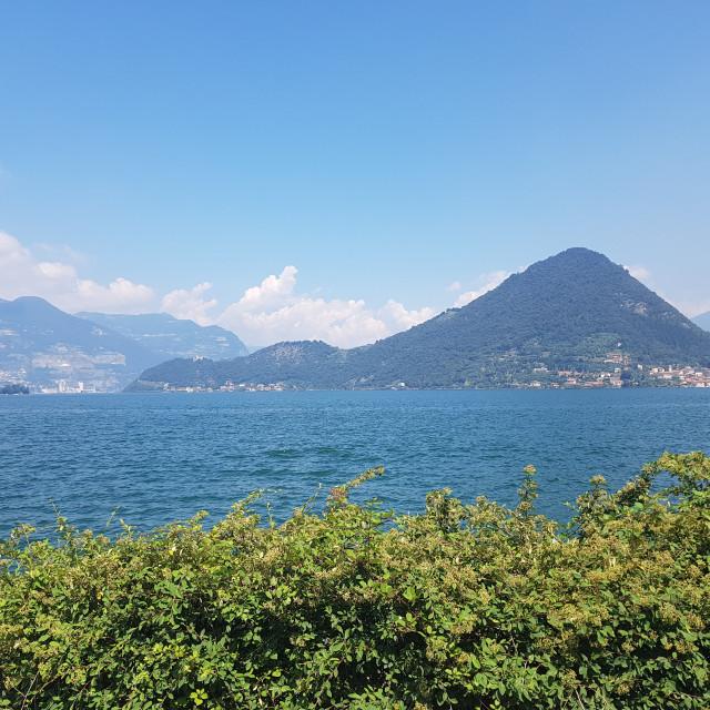 """Lago d'Iseo, Italy"" stock image"