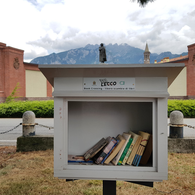 """""""Book Share Point, Lecco, Italy"""" stock image"""