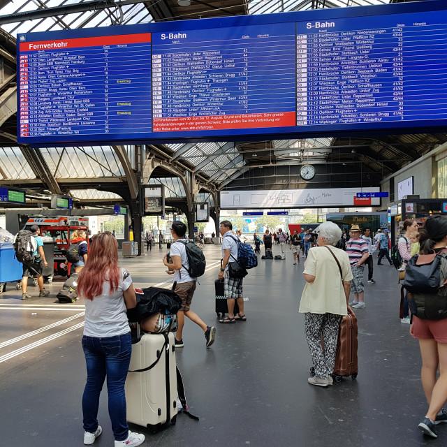 """""""Zurich Train Station"""" stock image"""