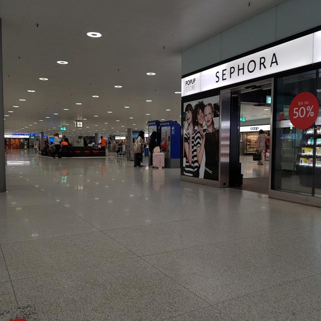 """""""Sephora store, Zurich Railway Station"""" stock image"""