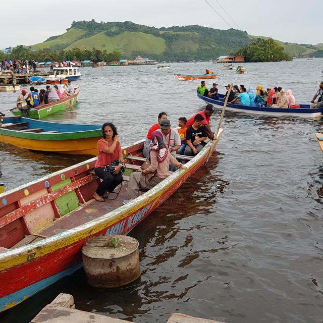 """Lake Sentani, Papua Province, Indonesia"" stock image"