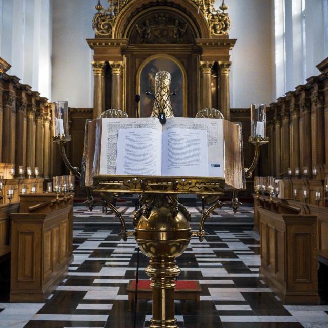 """Trinity College Chapel, Cambridge UK."" stock image"