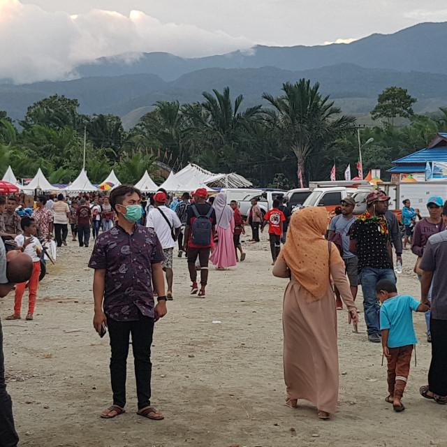 """""""Lake Sentani Festival, Papua, Indonesia"""" stock image"""