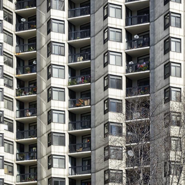 """Apartment Block"" stock image"