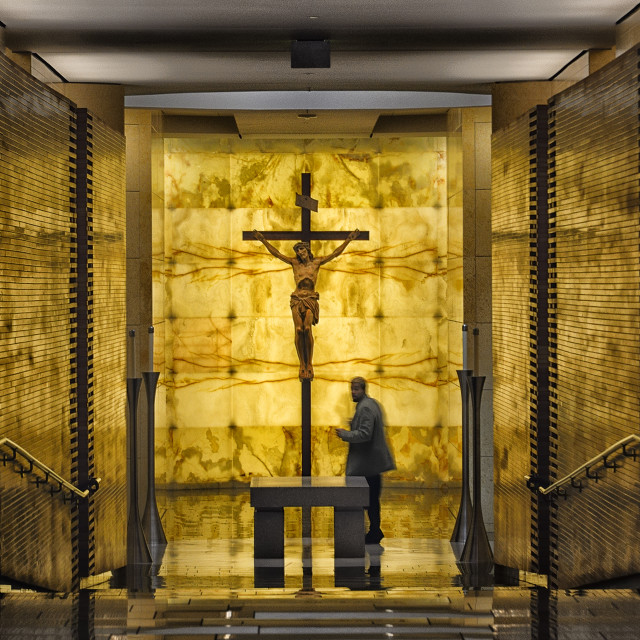 """""""Crucifix inside Christ The light Cathedral"""" stock image"""