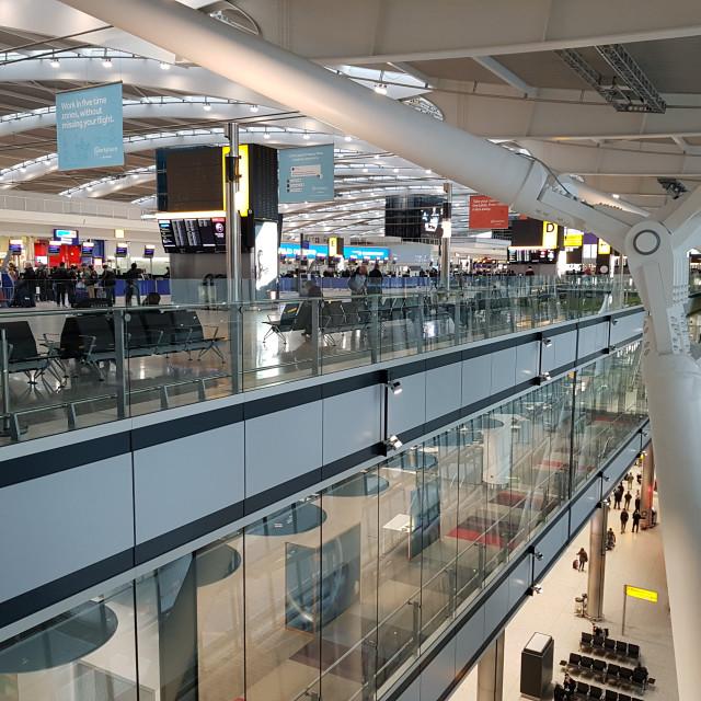 """Terminal 5, London Heathrow Airport"" stock image"