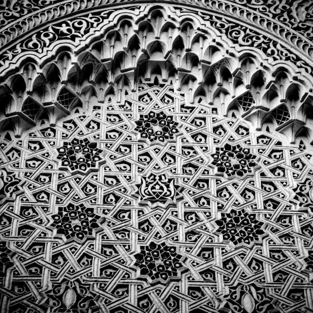 """WALLS OF ALHAMBRA"" stock image"