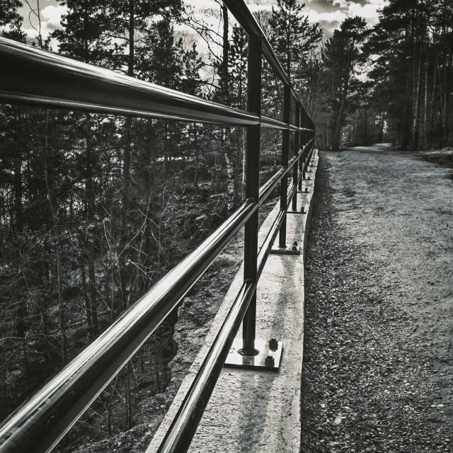 """""""Between III (Metal Fence)"""" stock image"""