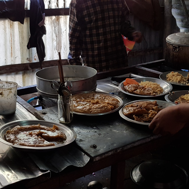 """""""Basic Nepalese Cuisine"""" stock image"""