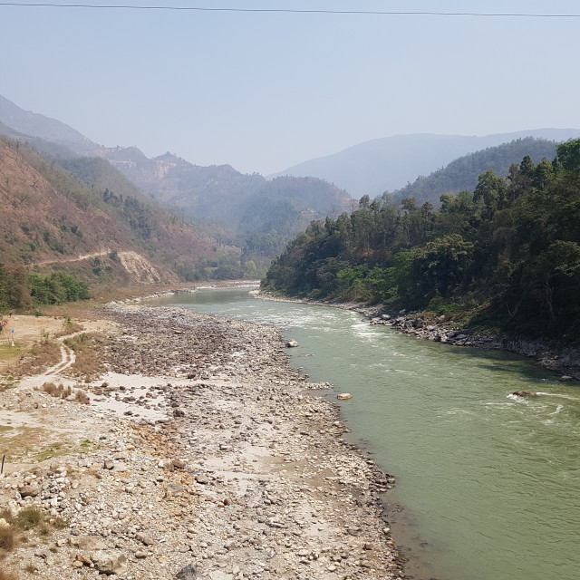 """Trishuli River, Nepal"" stock image"