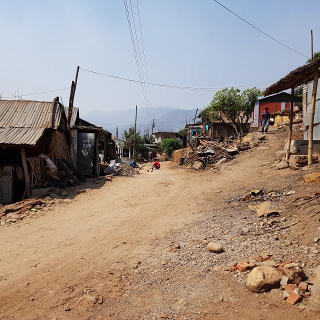 """Village, Nepal"" stock image"
