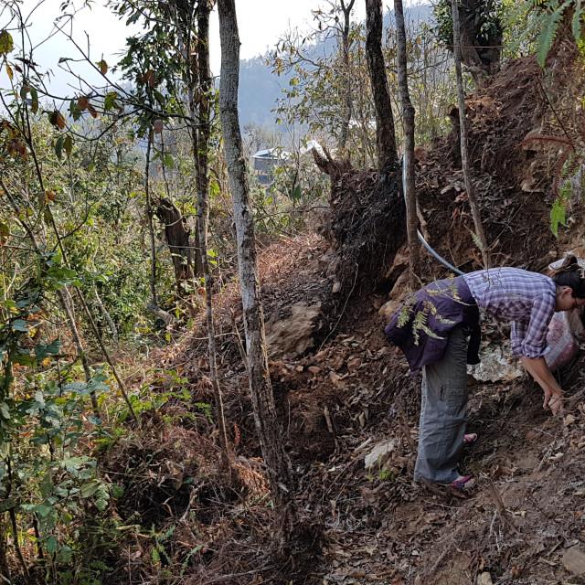 """""""Volunteer in Nepal"""" stock image"""