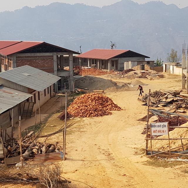 """School Construction, Gorkha District, Nepal"" stock image"
