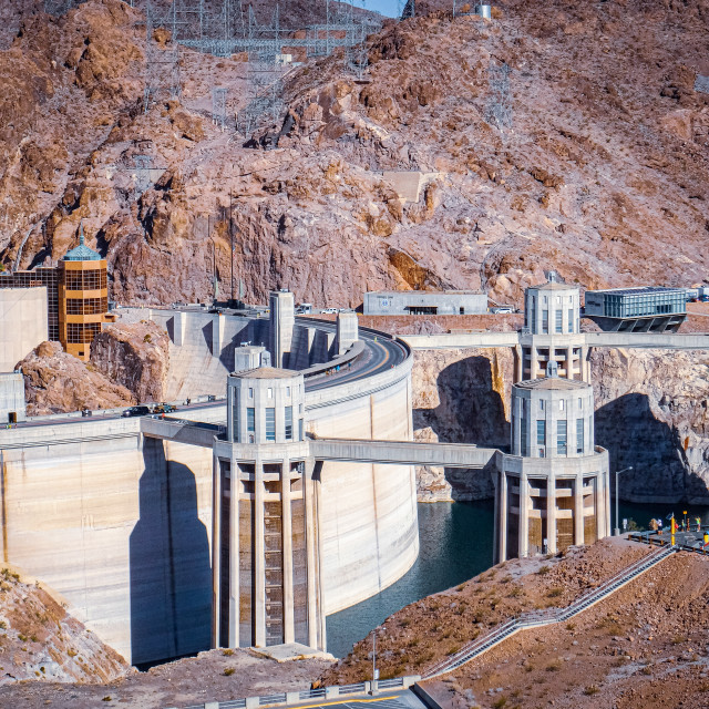 """""""The Hoover Dam"""" stock image"""