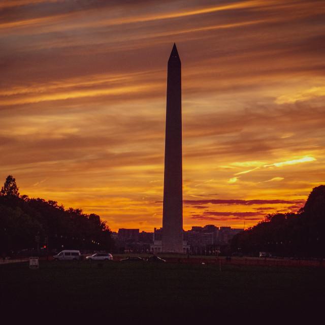 """""""Sunset Over Washington"""" stock image"""