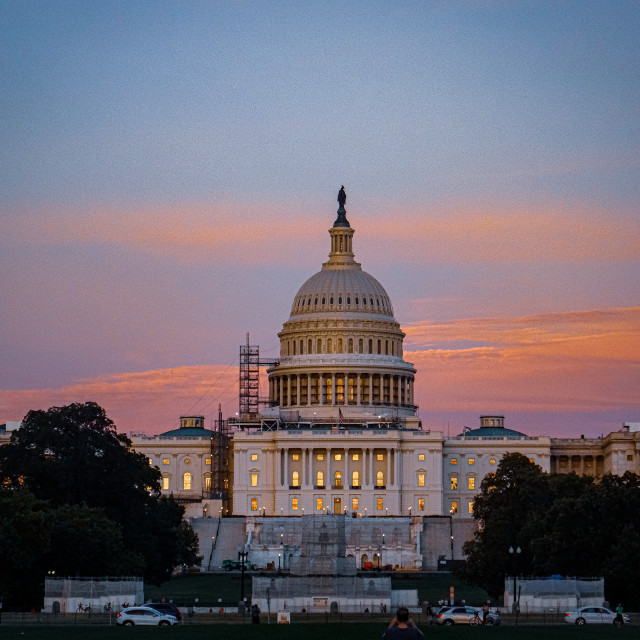 """""""The Capitol Building at Sunset"""" stock image"""