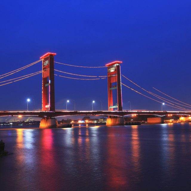 """Ampera Bridge"" stock image"