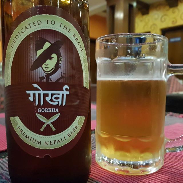 """Gorkha Beer, Nepal"" stock image"