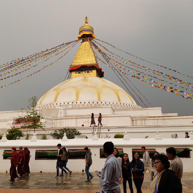 """""""Swayambhunath Temple, Kathmandu"""" stock image"""