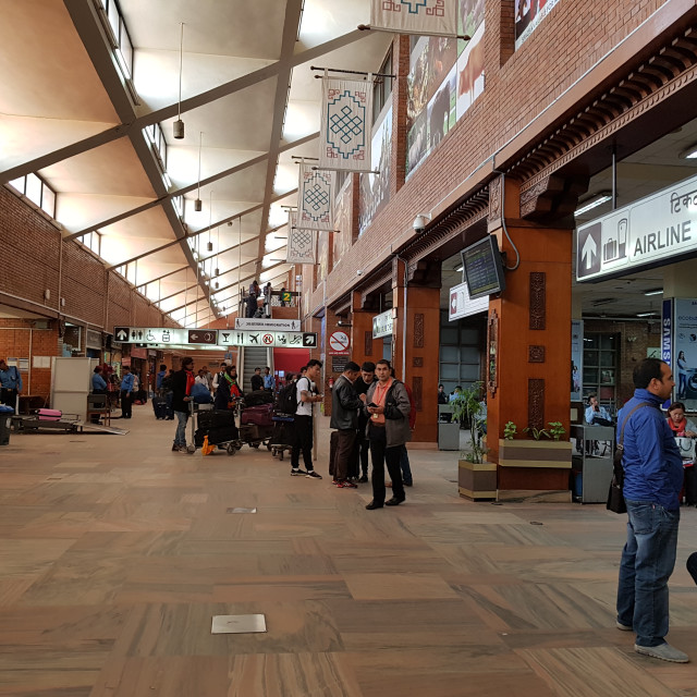 """Tribhuvan International Airport, Kathmandu"" stock image"