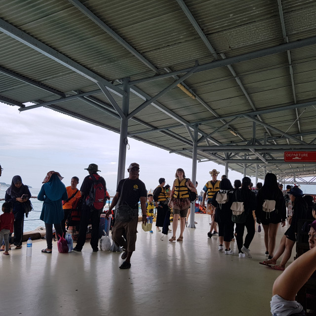 """Jesselton Point Ferry Terminal, Kota Kinabalu"" stock image"