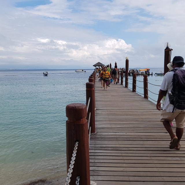 """Manukan Island Pier, Malaysia"" stock image"
