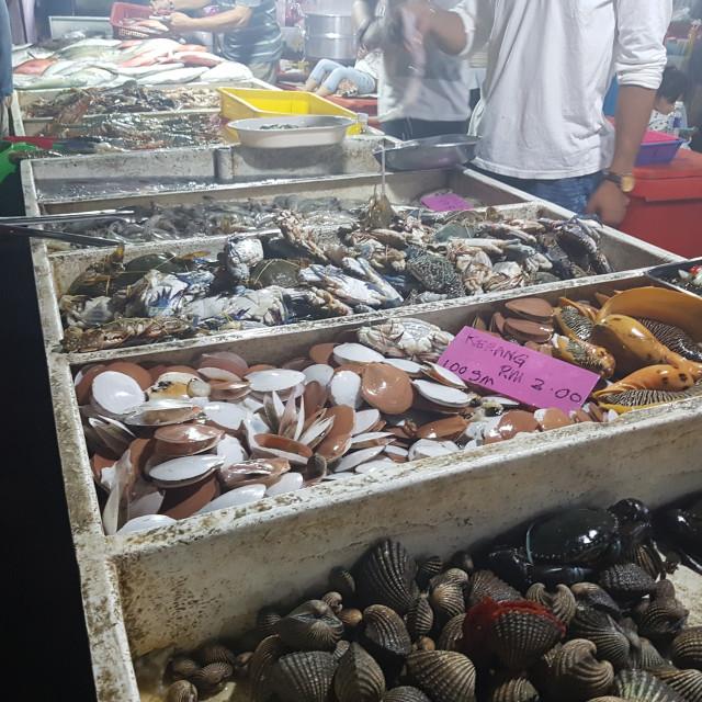 """Kota Kinabalu Seafood Market, Malaysia"" stock image"