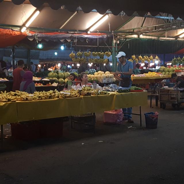 """Food Market, Kota Kinabalu, Malaysia"" stock image"