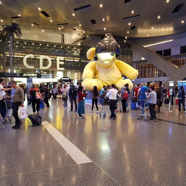 """Hamad International Airport, Doha, Qatar"" stock image"