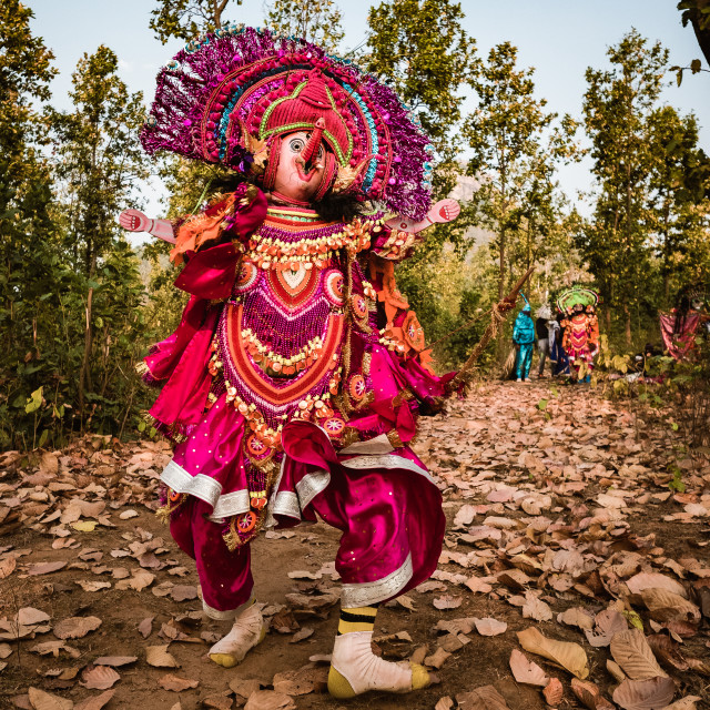 """Chhau Dance"" stock image"