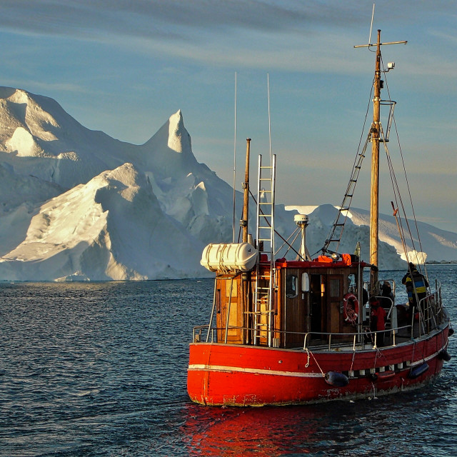 """""""Iceberg in midnight sun"""" stock image"""