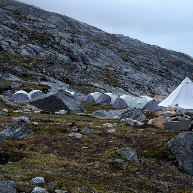 """Wilderness camp"" stock image"