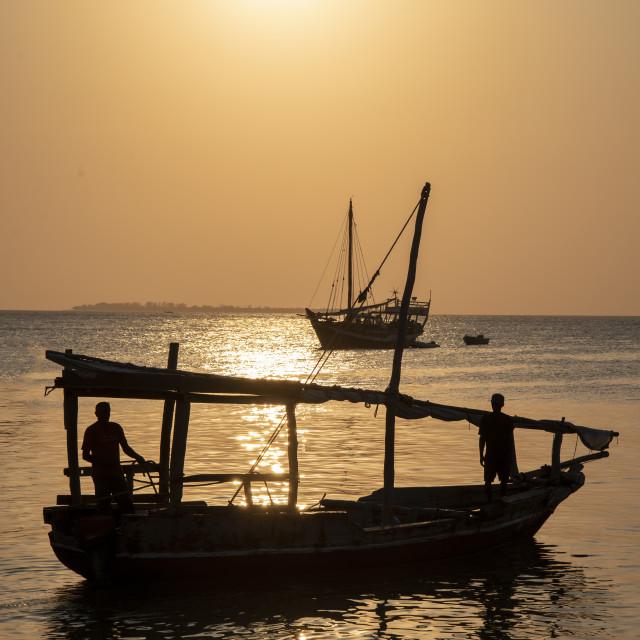 """""""Zanzibar sunset"""" stock image"""