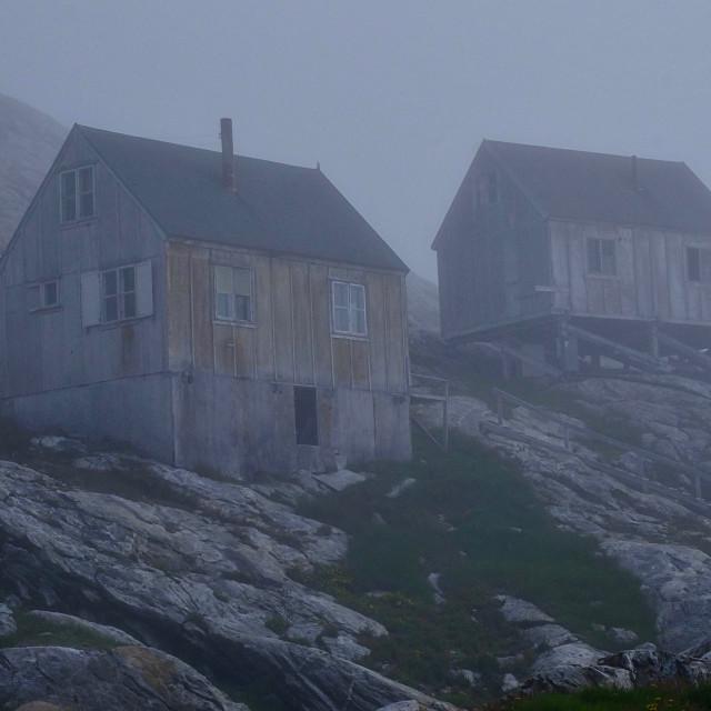 """Abandoned houses"" stock image"