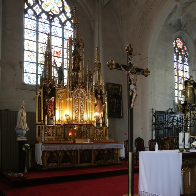 """The interior of the God's house for faithful Catholics"" stock image"