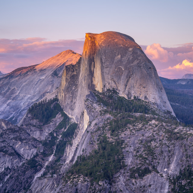 """Yosemite Half Dome Sunset"" stock image"