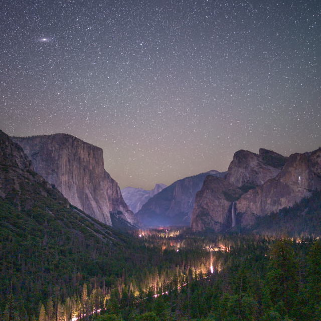 """Yosemite Valley at Night"" stock image"