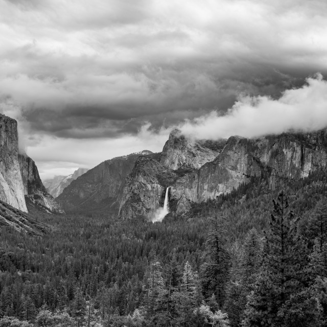 """Moody Yosemite Valley"" stock image"