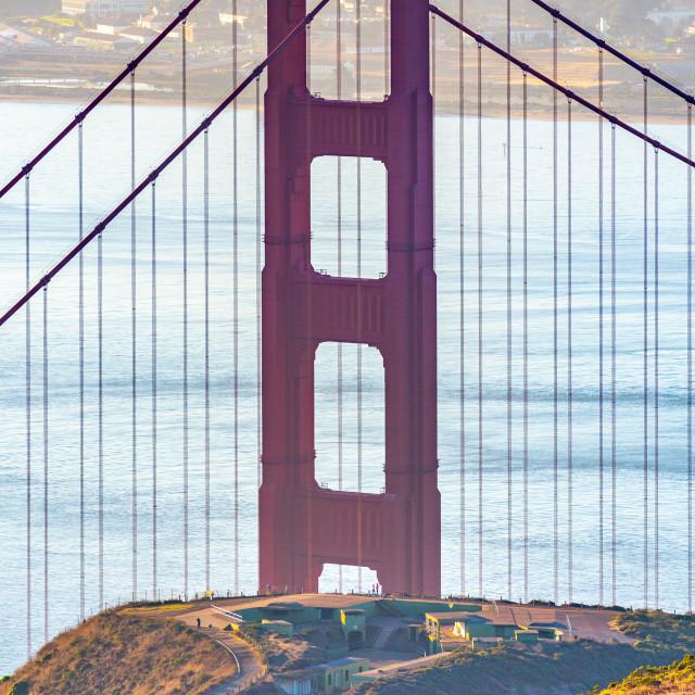 """""""Walking to the Bridge (colour)"""" stock image"""