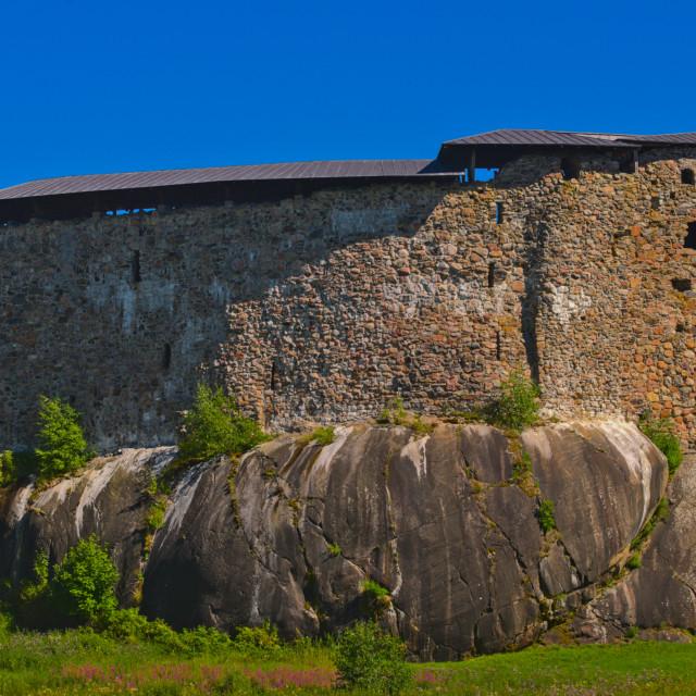 """Raseborg Castle Ruins"" stock image"