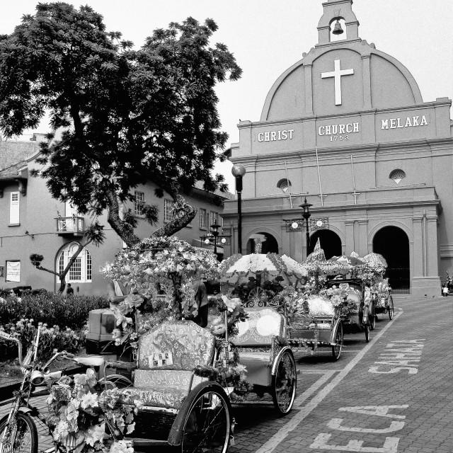 """Christ Church Malacca"" stock image"