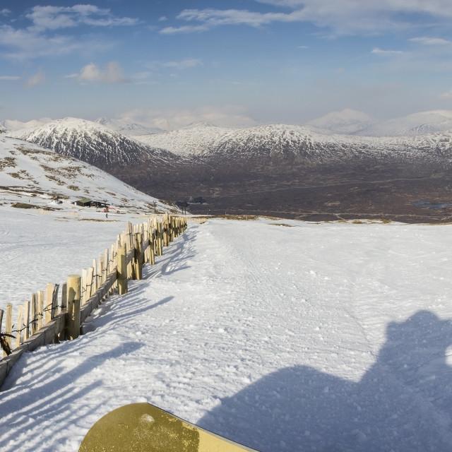 """Glencoe Panorama"" stock image"