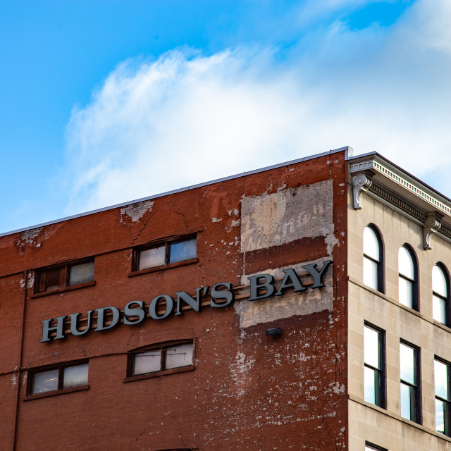 """Hudson's Bay Rideau Location in Ottawa"" stock image"
